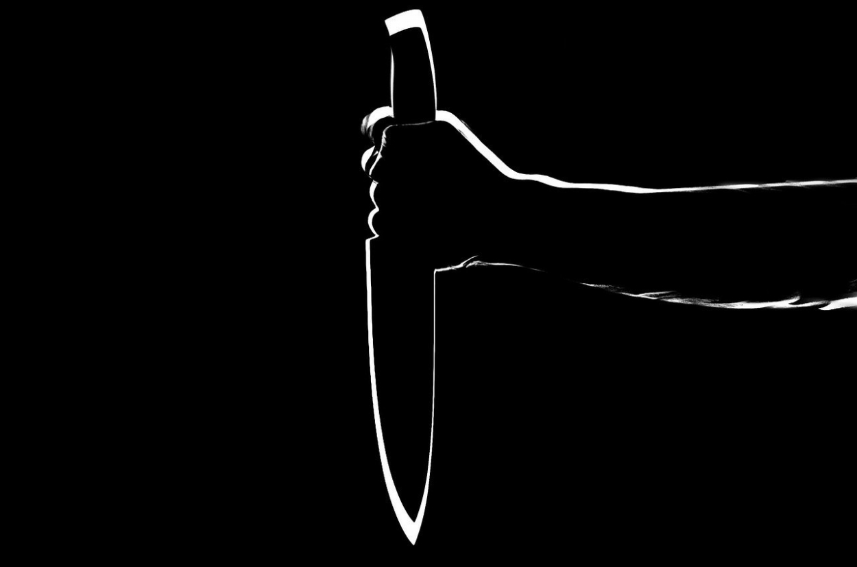 The knife in a hand