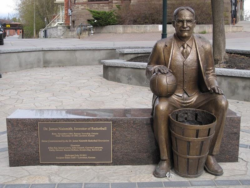 James Naismith memorial, who invented basketball