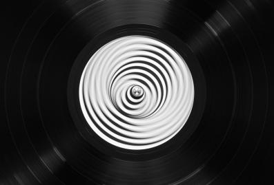 Black vinyl disc
