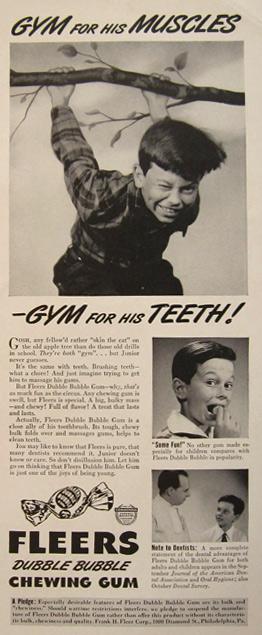 Vintage magazine ad for Dubble Bubble Chewing Gum