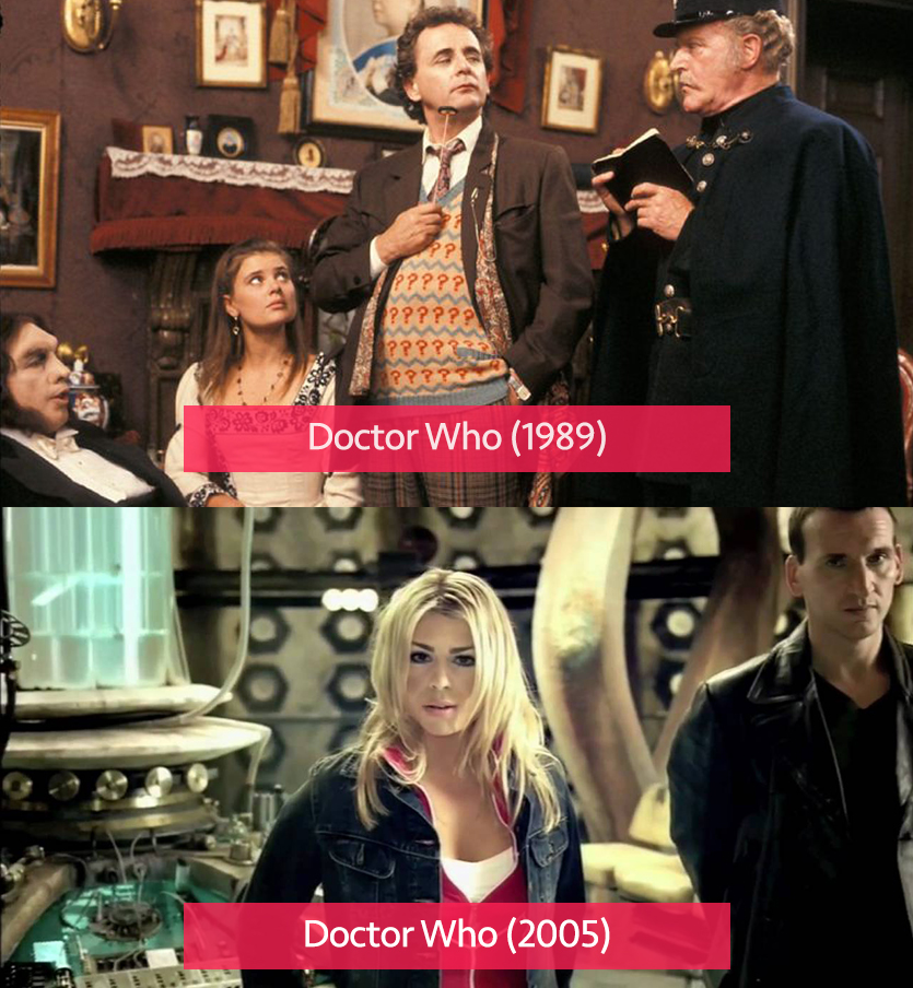 Doctor Who 1989 vs 2005