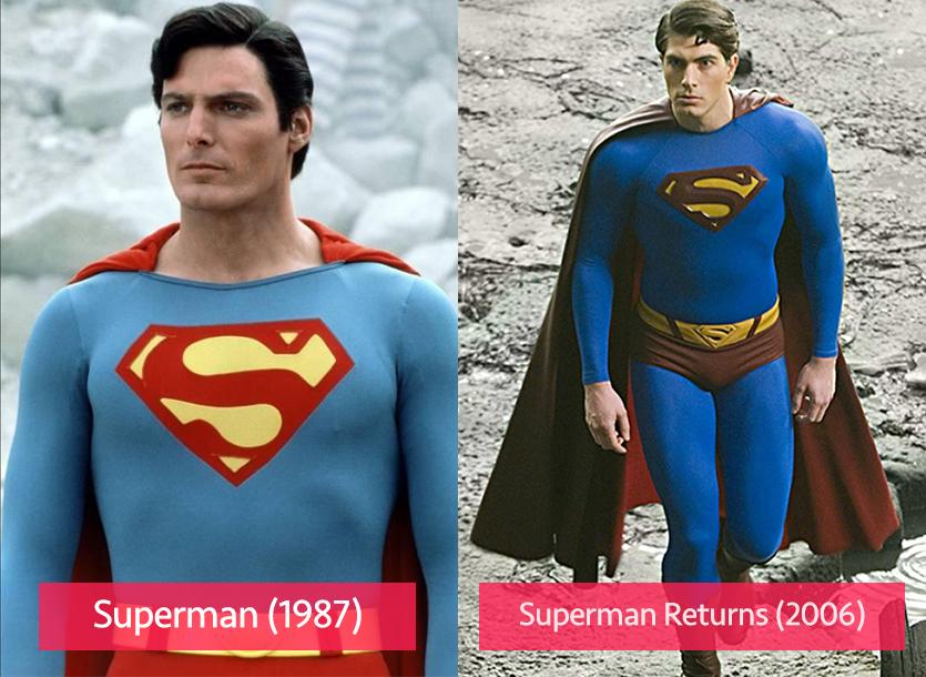 Superman 1987 vs 2006