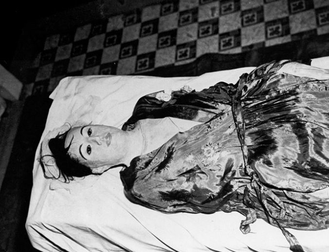 The corpse of Maria Elena de Hoyos