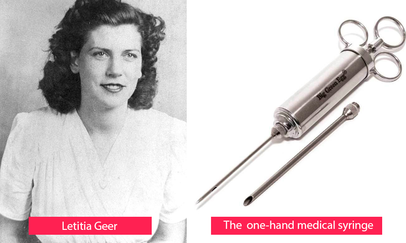 Letitia Geer - inventor of the one-hand medical syringe