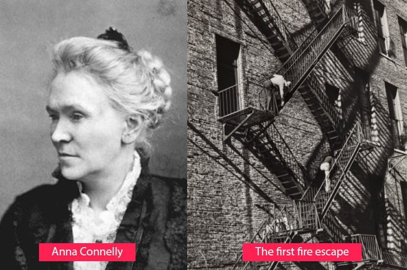 Anna Connelly - inventor of the fire escape route