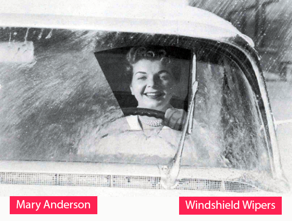 Mary Anderson - Inventor of the windshield wipers