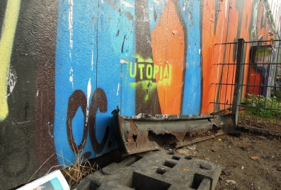 Utopia text on the wall