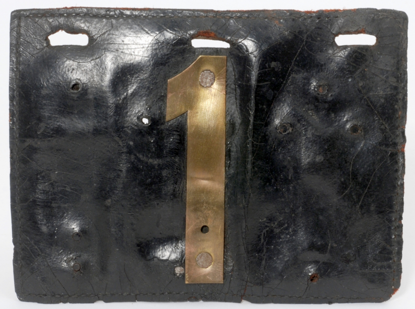 The first leather car license plate in Minnesota