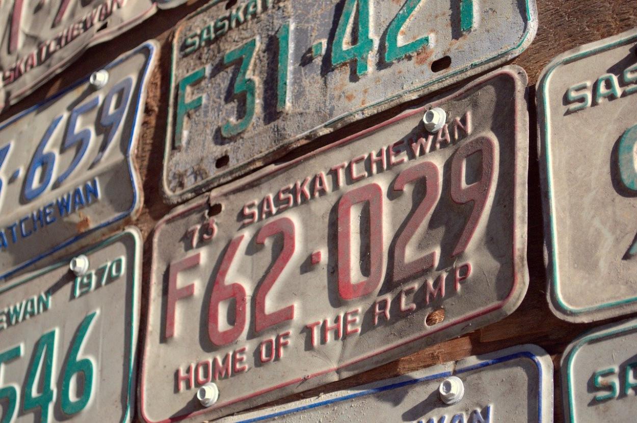 Vehicle license plates