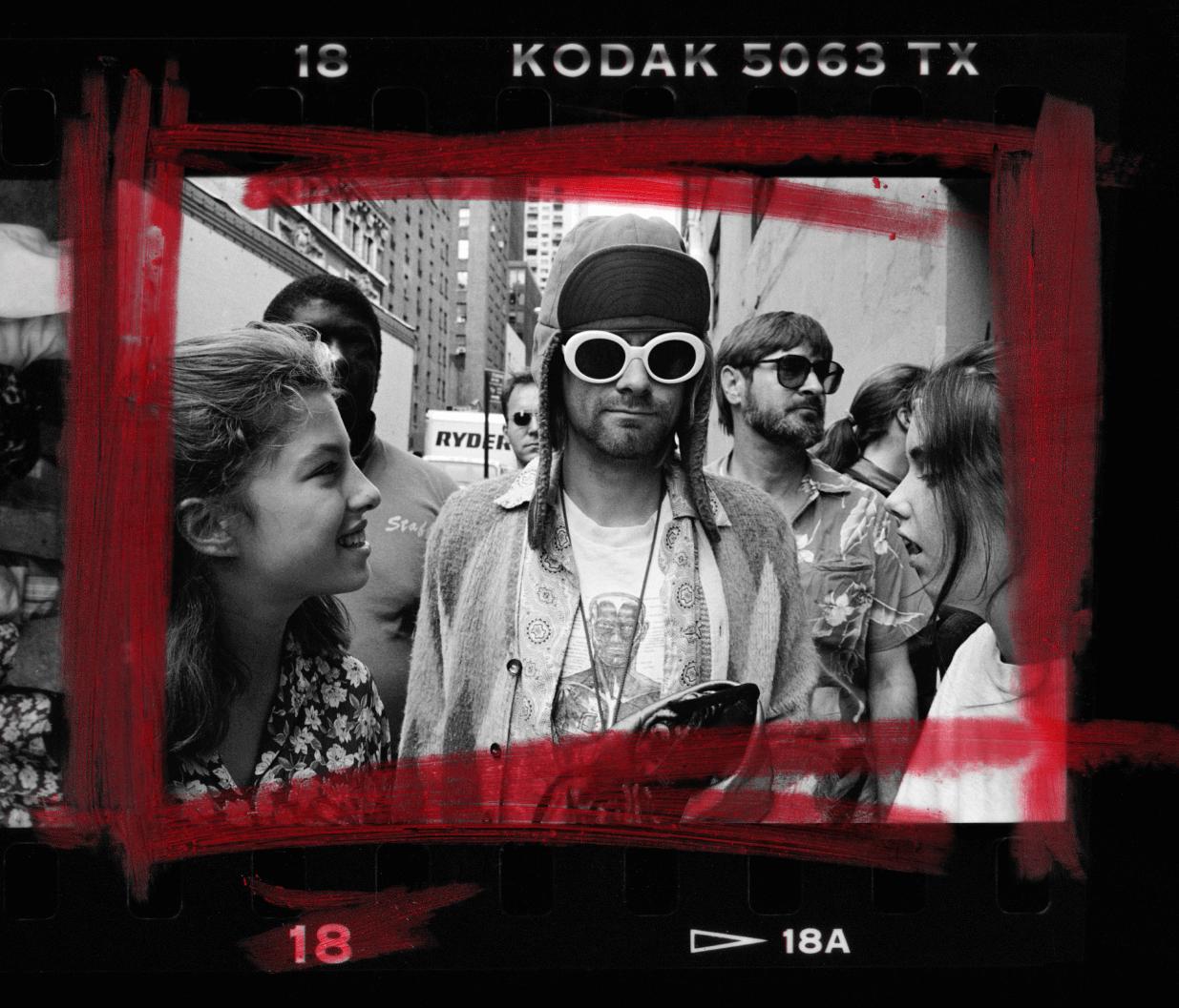 Kurt Cobain in public