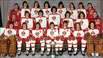 Barrie Colts - hockey team in 1975